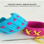 Design Colorful Bracelets with Toilet Roll
