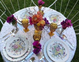 Egg Cup Floral Decoration for Easter Table Setting