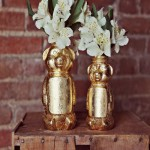Design a Golden Honey Bear Vase