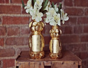 Design a Golden Honey Bear Vase