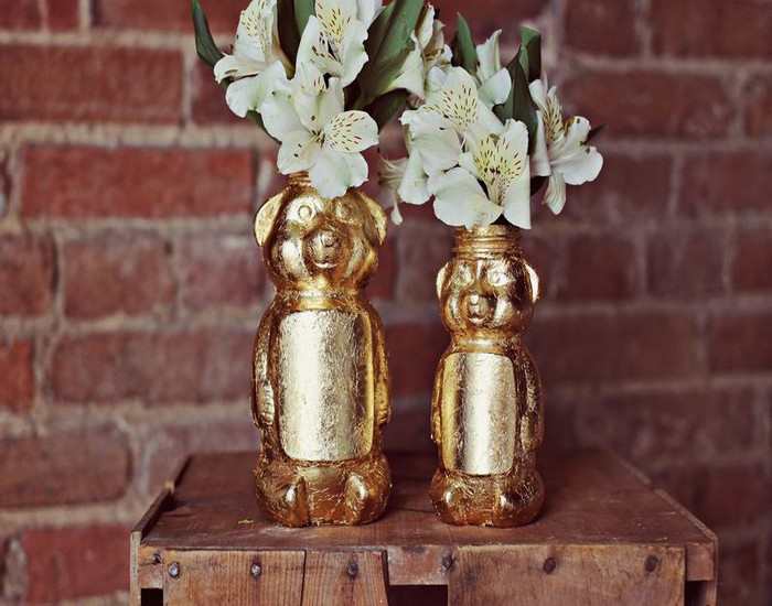 DIY Golden Honey Bear Idea