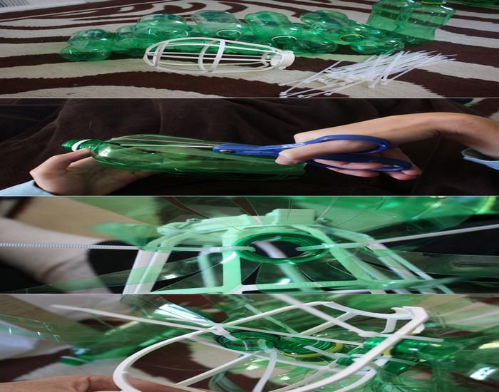 DIY Green Bottle Lamp Design