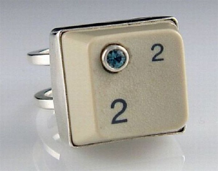 Old Keyboard Button Ring Designs