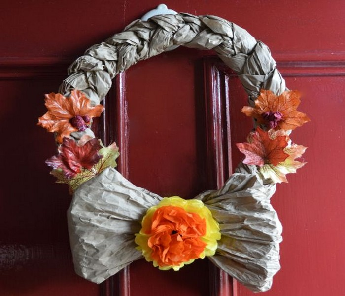 Recycled Crafts Wreath