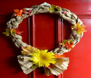 Design Fall Wreaths with Recycled Crafts
