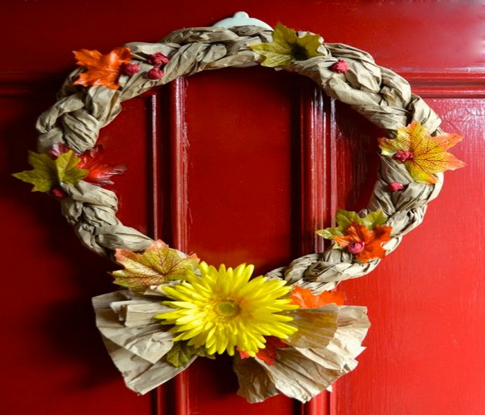 Recycled Crafts Wreaths