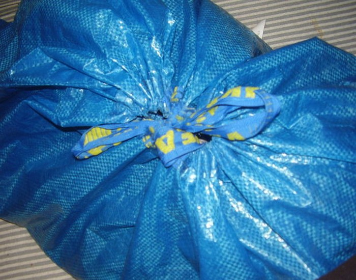 Recycled Ikea Bag Backpack Crafts