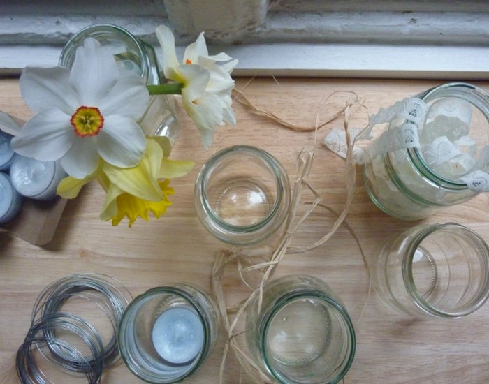 Recycled Jam Jars