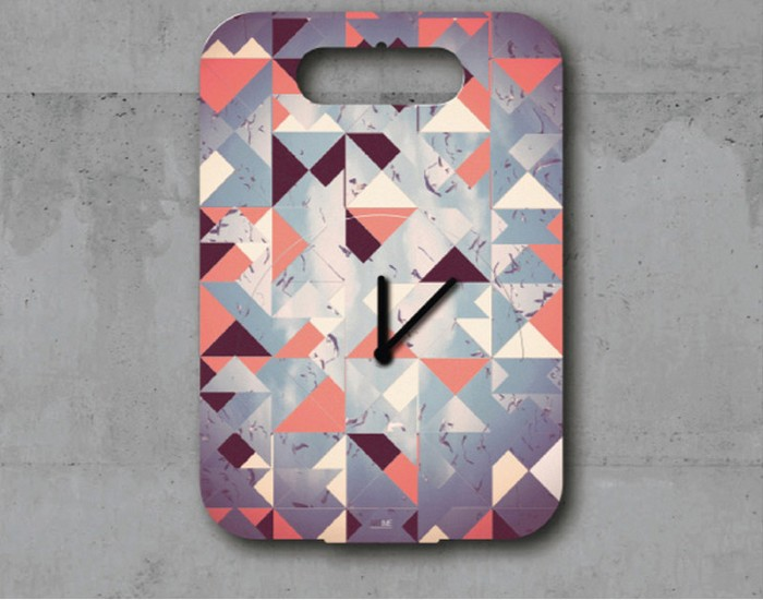 Recycled Old Cardboard Clock Ideas