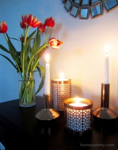 Reuse old Candle Holders to Compliment Decor of Your House