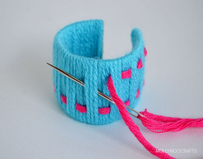 Toilet Roll Colourful Bracelets Crafts