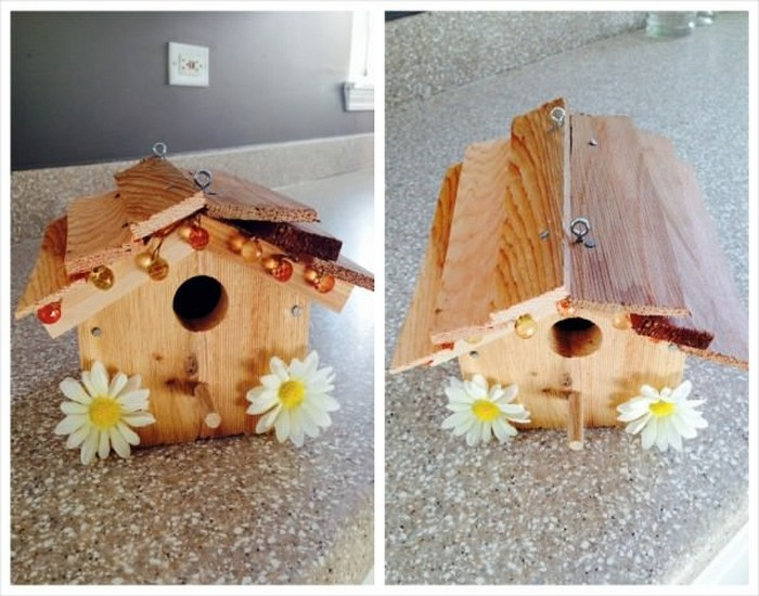 Bird House Made from Wood Designs