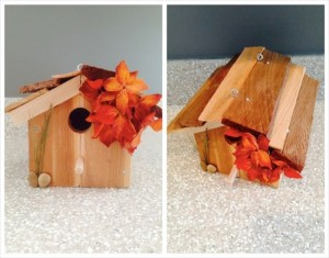 Beautiful Birdhouse Made from Recycled Cedar Panels