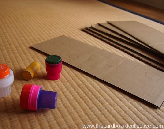 Cardboard and Cap Peg Rack Designs
