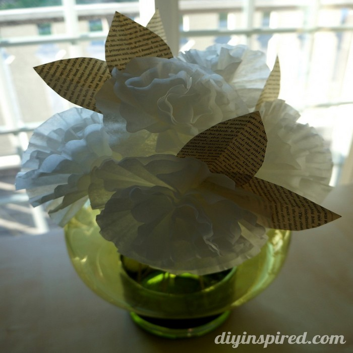Coffee Filter Paper Beautiful Flower