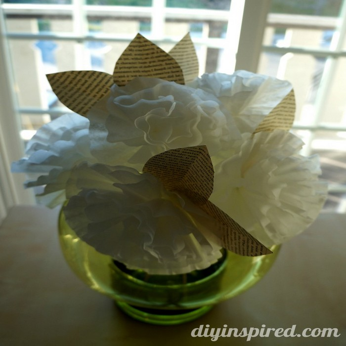 Coffee Filter Paper Beautiful Flowers