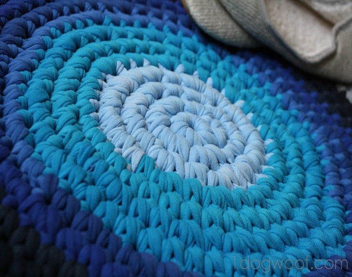 Crochet Rug Repurposed T Shirt Designs
