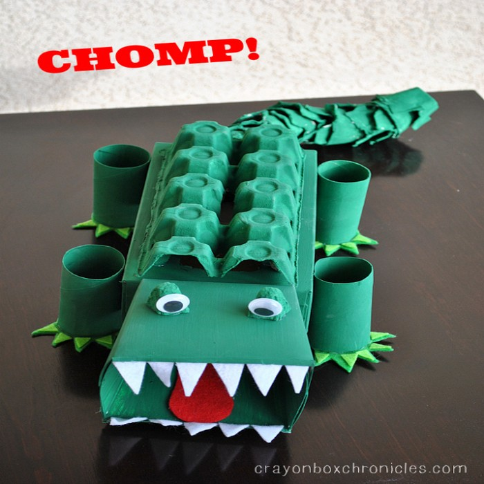 How To Make An Alligator Affirmation Box Recycled Things