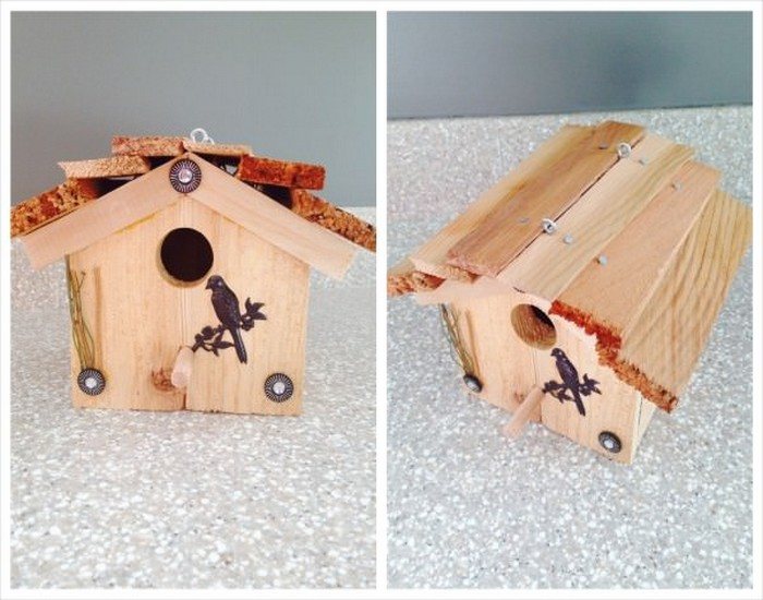 DIY Bird House Made from Wood