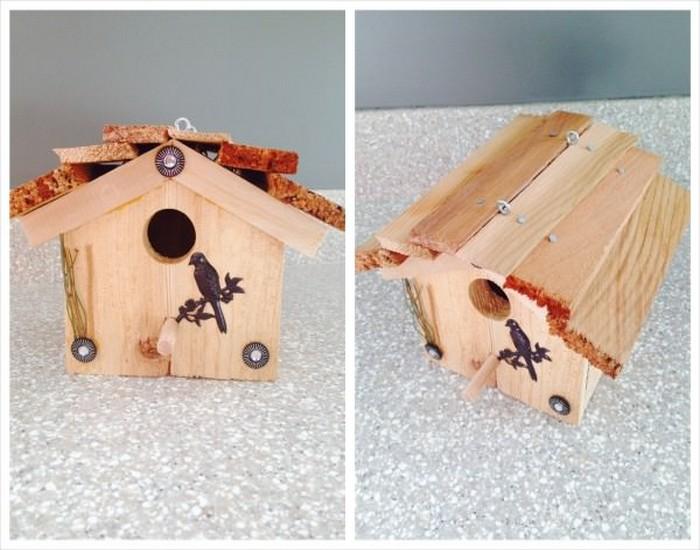 DIY Bird House Made from Wood