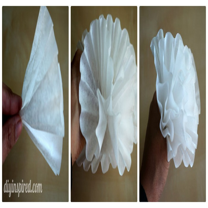 DIY Coffee Filter Paper Flowers