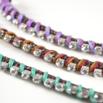 DIY Rhinestone Wrapped Bracelet Designs