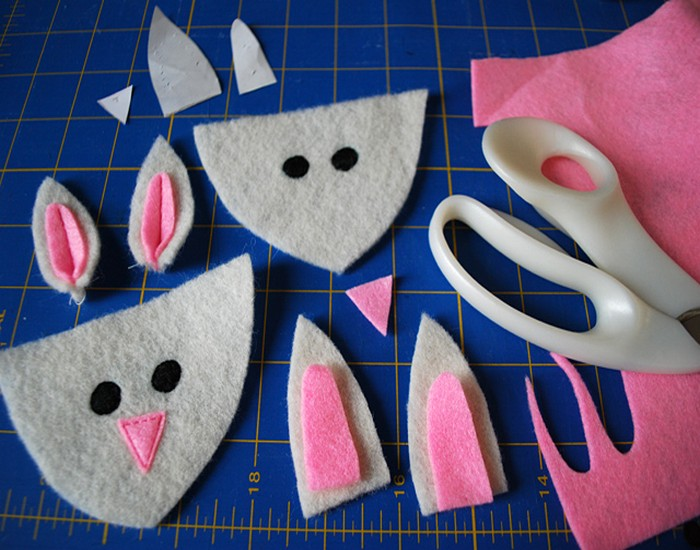 Fuzzy Bunny Slippers Pattern from Recycled Material