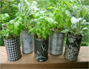 Decorate Your Garden with Recycled Material