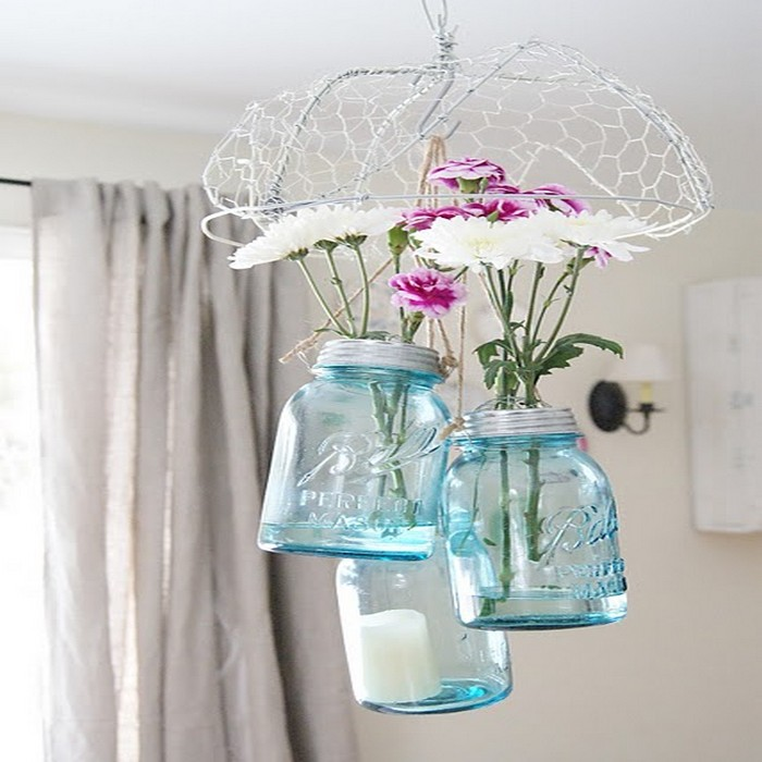 Mason Jars Flower Hanging Ideas