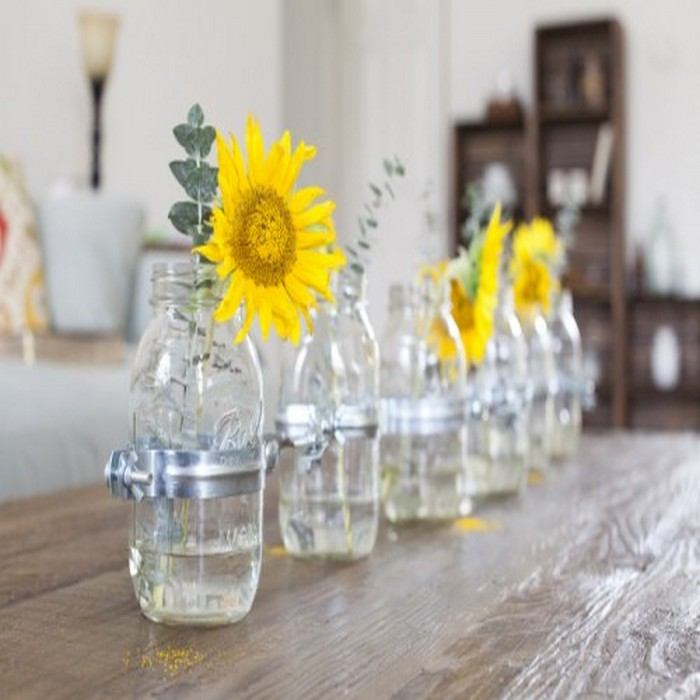 Mason Jars Vase Centerpiece Ideas