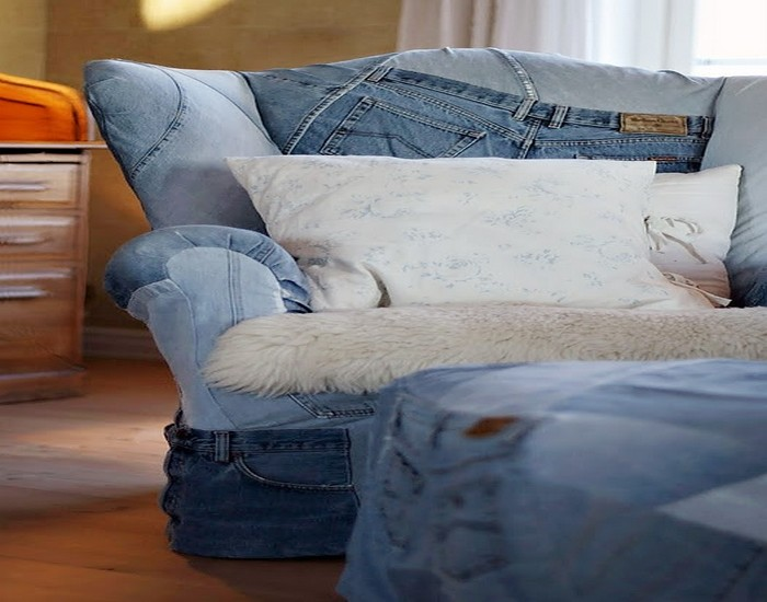 Old Jeans Denim Chair