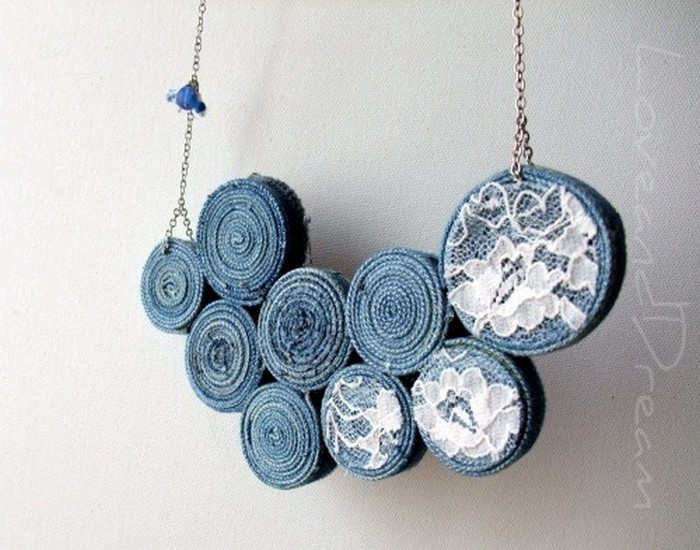 Old Jeans Necklace