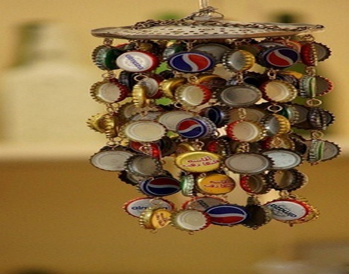 Recycled Bottle Top Caps Crafts