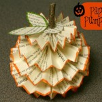 Recycled Paper Pumpkins