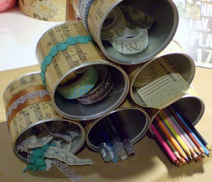 Recycled Tin Cans Uses