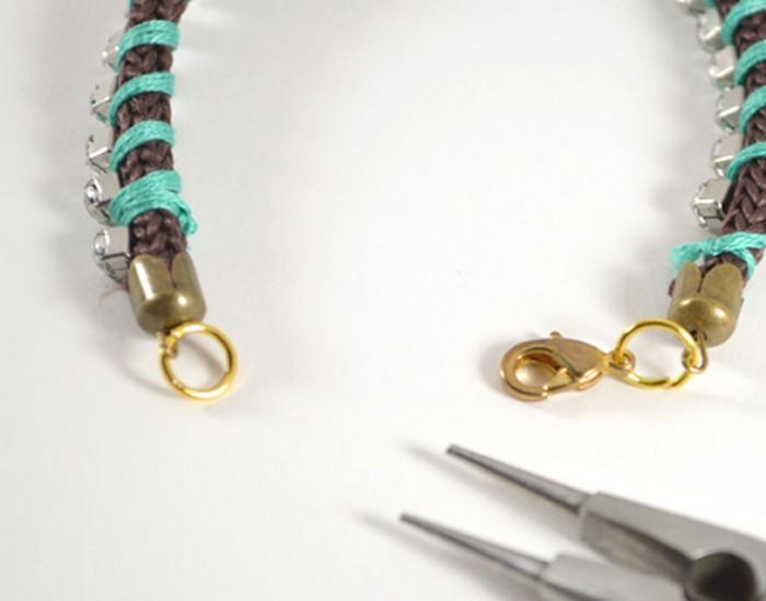 Rhinestone Wrapped Bracelet Ideas