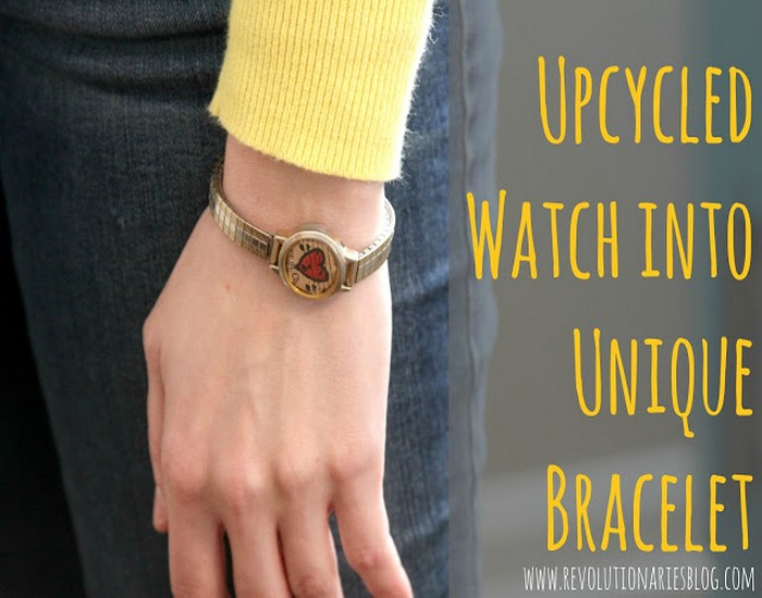 Upcycled Watch into Unique Bracelet