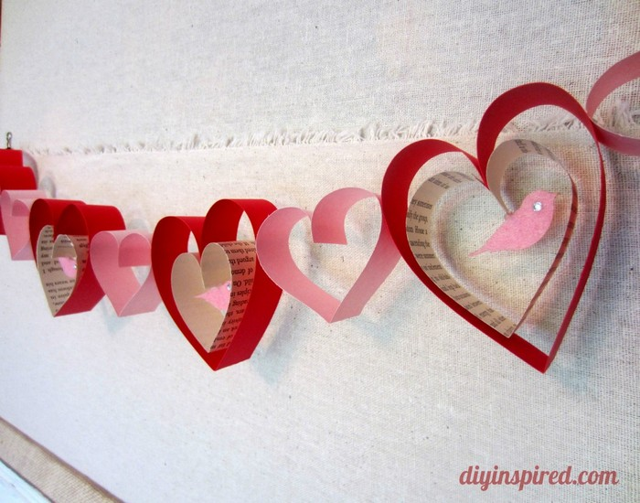 Valentines Day Craft Garland