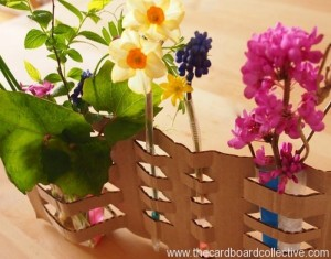 Beautiful DIY Woven Cardboard Vase Craft