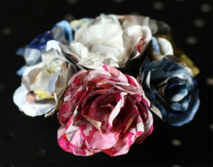 DIY Recycled Paper Beautiful Flower Pins