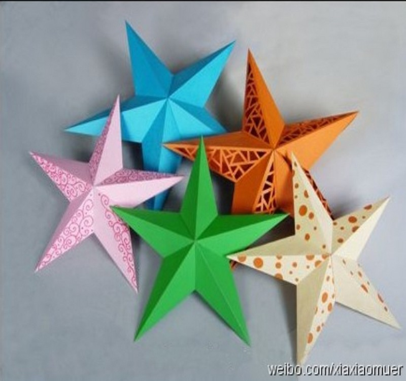Diy crafts or paper stars excellent for party or function - Diy recycled paper crafts ...