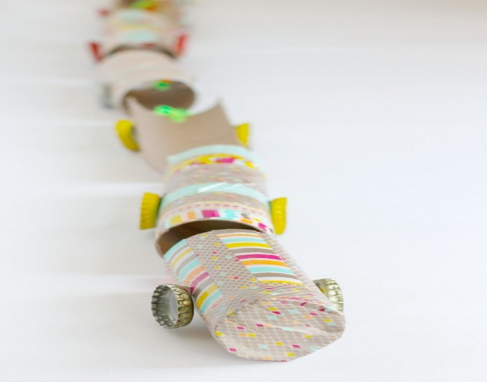 DIY Recycled Paper Train for Kids