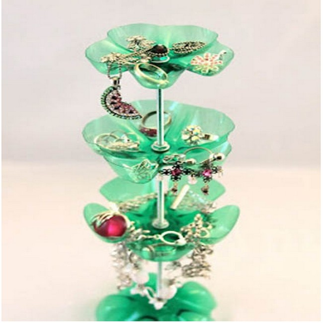 Using recycled plastic bottles jewellery organizers for for Diy recycled plastic bottles