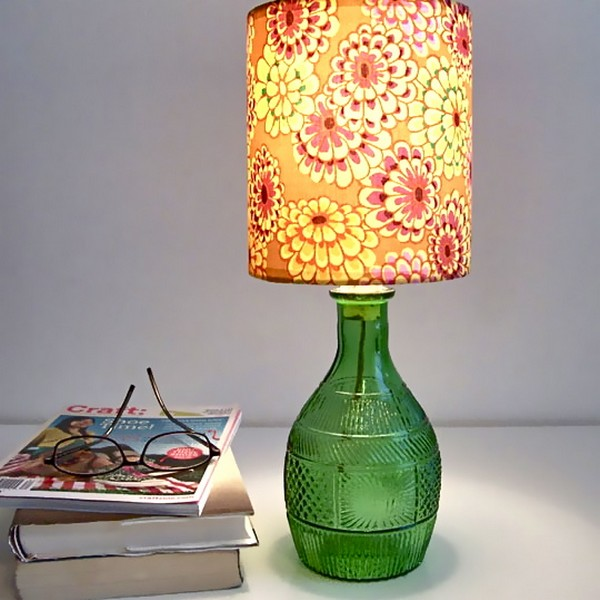 Glass Bottles Lamp