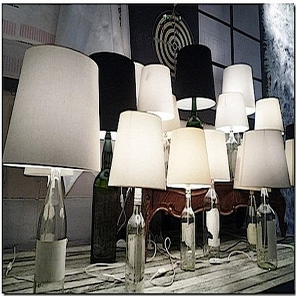 Grouping Glass Bottles Lamps