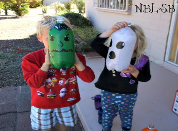 Recycled Bottles Halloween Crafts