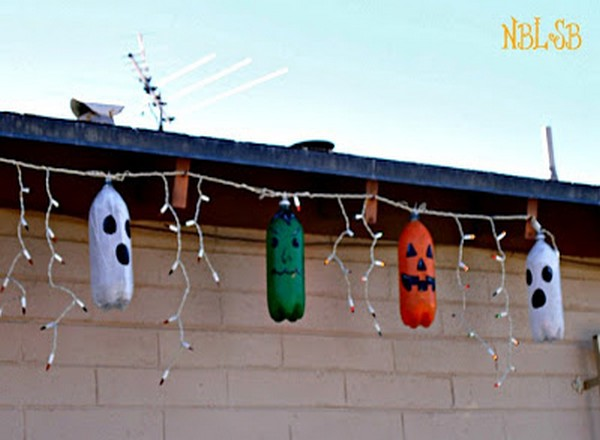 Recycled Bottles Halloween