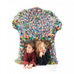 Recycled Bottles Top Caps Chair
