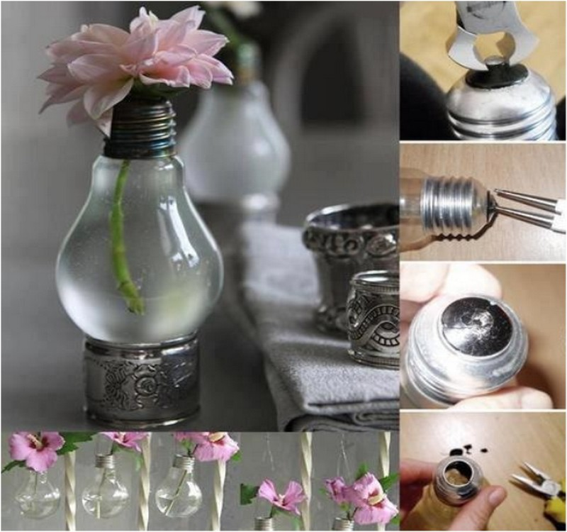 Recycled Light Bulbs Home Decoration