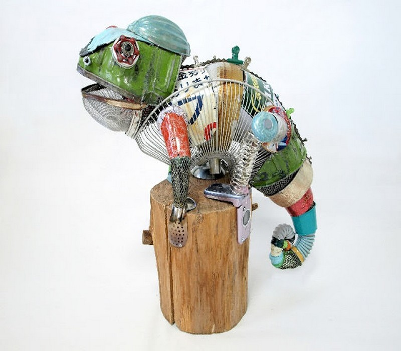 Recycled Material Animals Sculptures